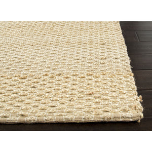 Jaipur Rugs Naturals Solid Pattern Taupe/Gray Jute and Cotton Area Rug AD02 (Rectangle)