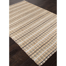 Load image into Gallery viewer, Jaipur Rugs Naturals Stripe Pattern Taupe/Gray Cotton and Jute Area Rug AD12 (Rectangle)