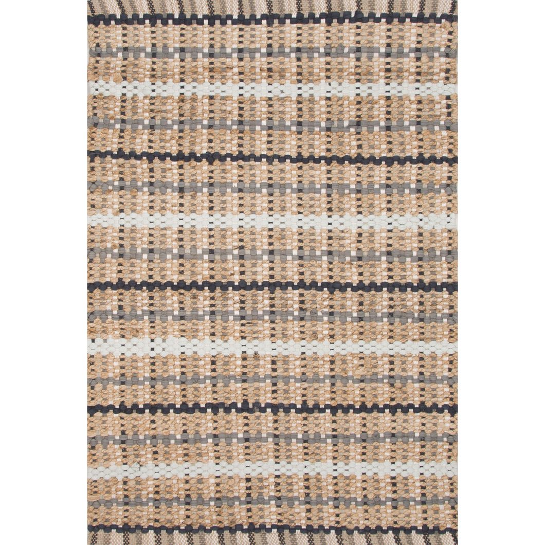Jaipur Rugs Naturals Stripe Pattern Taupe/Gray Cotton and Jute Area Rug