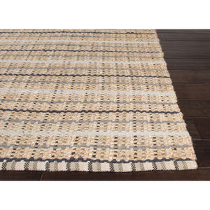 Jaipur Rugs Naturals Stripe Pattern Taupe/Gray Cotton and Jute Area Rug AD12 (Rectangle)
