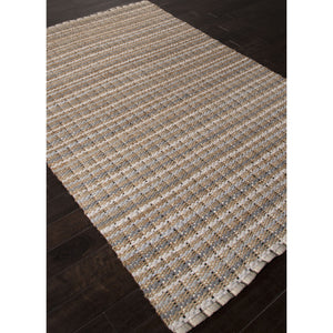 Jaipur Rugs Naturals Stripe Pattern Gray Cotton and Jute Area Rug AD13 (Rectangle)