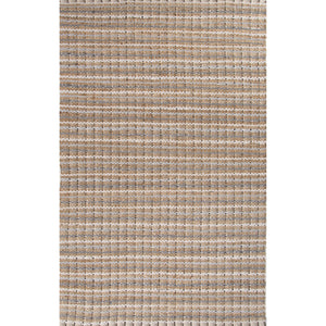 Jaipur Rugs Naturals Stripe Pattern Gray Cotton and Jute Area Rug