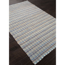 Load image into Gallery viewer, Jaipur Rugs Naturals Stripe Pattern Blue Cotton and Jute Area Rug AD16 (Rectangle)