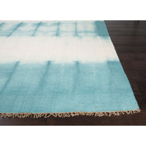 Jaipur Rugs FlatWeave Tie Dye Pattern Blue/Ivory Wool Area Rug AGA06 (Rectangle)