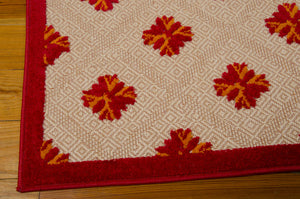Nourison Aloha Red Area Rug ALH02 RED (Rectangle)