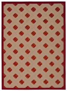 Nourison Aloha Red Area Rug ALH02 RED