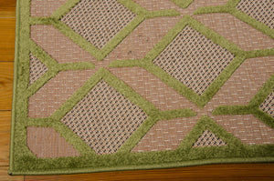 Nourison Aloha Green Area Rug ALH03 GRE (Rectangle)