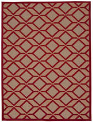 Nourison Aloha Red Area Rug ALH03 RED