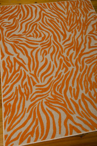 Nourison Aloha Orange Area Rug ALH04 ORG