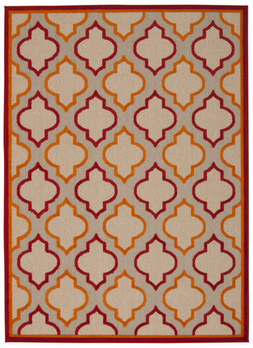 Nourison Aloha Red Area Rug ALH06 RED