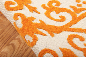 Nourison Aloha Orange Area Rug ALH12 ORG