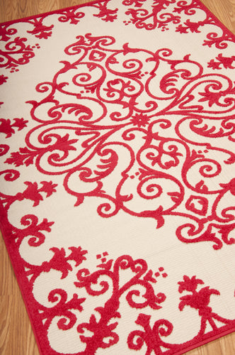 Nourison Aloha Red Area Rug ALH12 RED