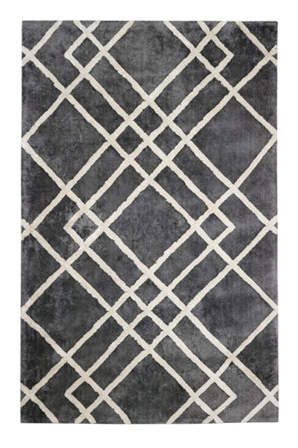 Anji Mountain Diamond Dogs Gray/Ivory Area Rug