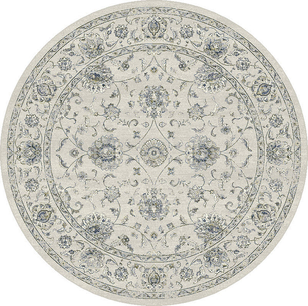Dynamic Rugs Ancient Garden Cream Classic Round Area Rug ...