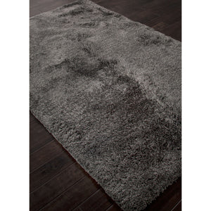 Jaipur Rugs Shag Solid Pattern Gray Polyester Area Rug ANG02 (Rectangle)