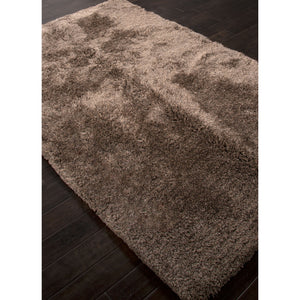 Jaipur Rugs Shag Solid Pattern Taupe/Tan Polyester Area Rug ANG04 (Rectangle)