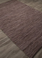 Load image into Gallery viewer, Jaipur Rugs FlatWeave Solid Pattern Brown/Purple Cotton Area Rug ANN01 (Rectangle)