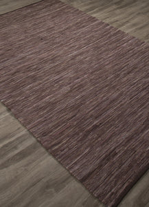 Jaipur Rugs FlatWeave Solid Pattern Brown/Purple Cotton Area Rug ANN01 (Rectangle)