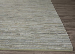 Jaipur Rugs FlatWeave Solid Pattern Gray Cotton Area Rug ANN06 (Rectangle)