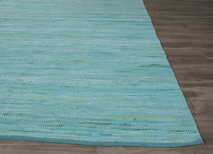 Jaipur Rugs FlatWeave Solid Pattern Blue Cotton Area Rug ANN07 (Rectangle)