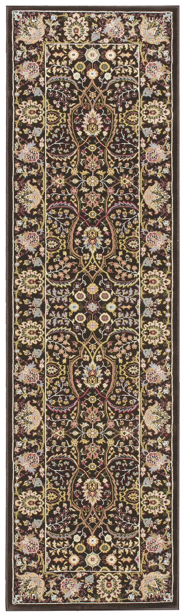 Kathy Ireland Antiquities American Jewel Espresso Area Rug By Nourison ANT03 ESPRE