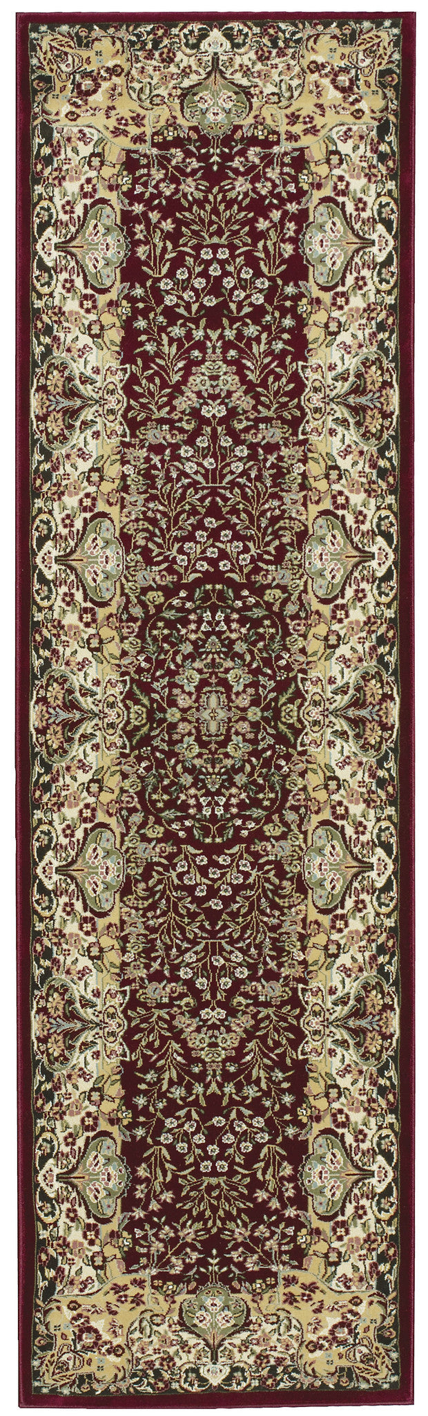 Kathy Ireland Antiquities Stately Empire Burgundy Area Rug By Nourison ANT05 BUR