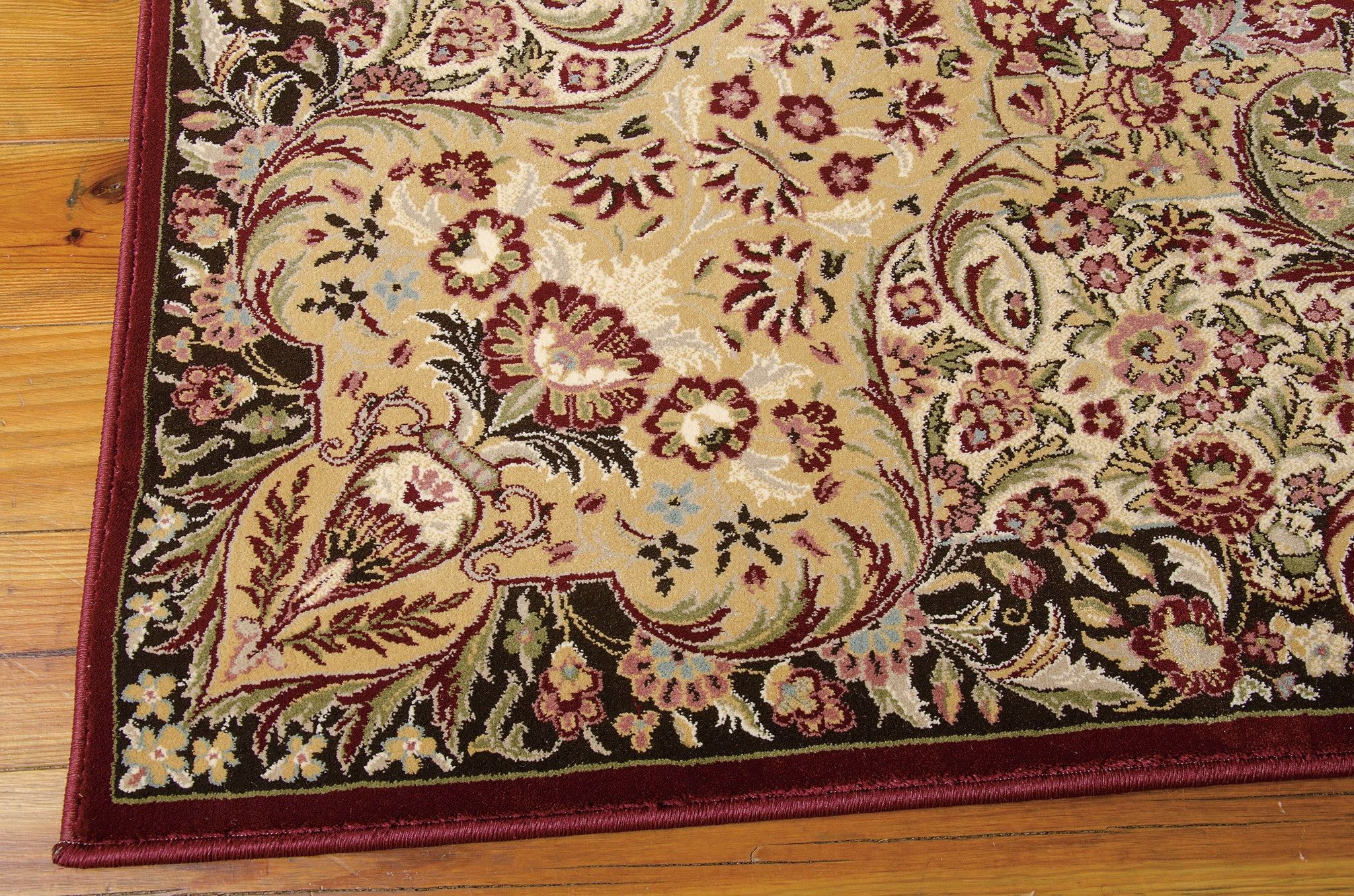Kathy Ireland Antiquities Stately Empire Burgundy Area Rug By Nourison ANT05 BUR (Rectangle)