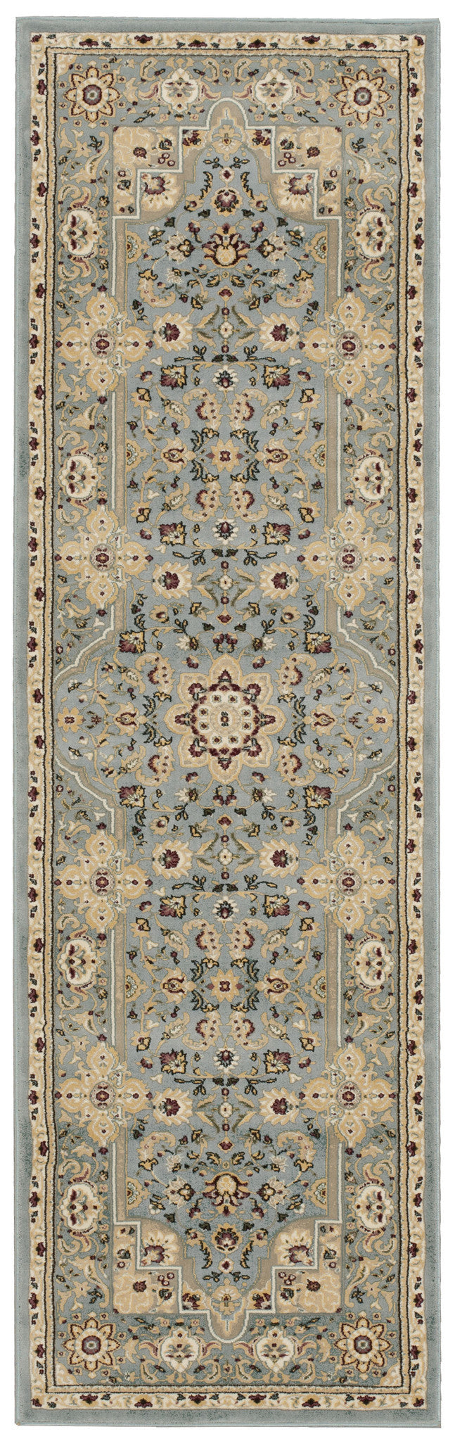 Kathy Ireland Antiquities Imperial Garden Slate Blue Area Rug By Nourison ANT06 SLTBL