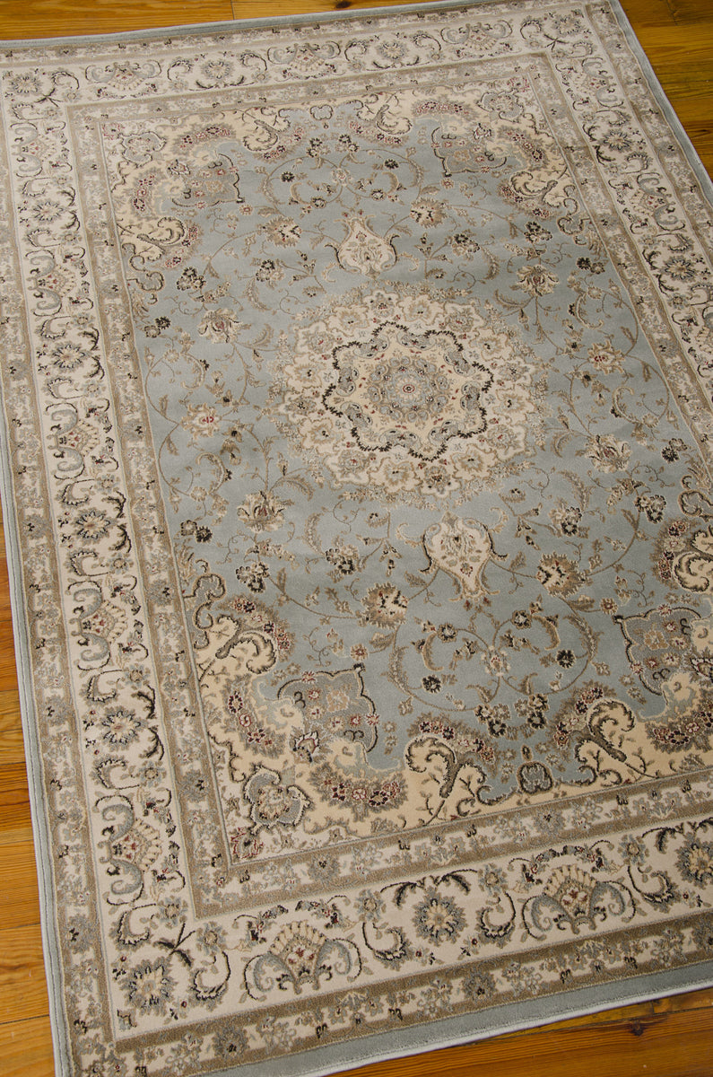 Nourison Ararat Light Blue Area Rug Ara02 Ltb Rectangle