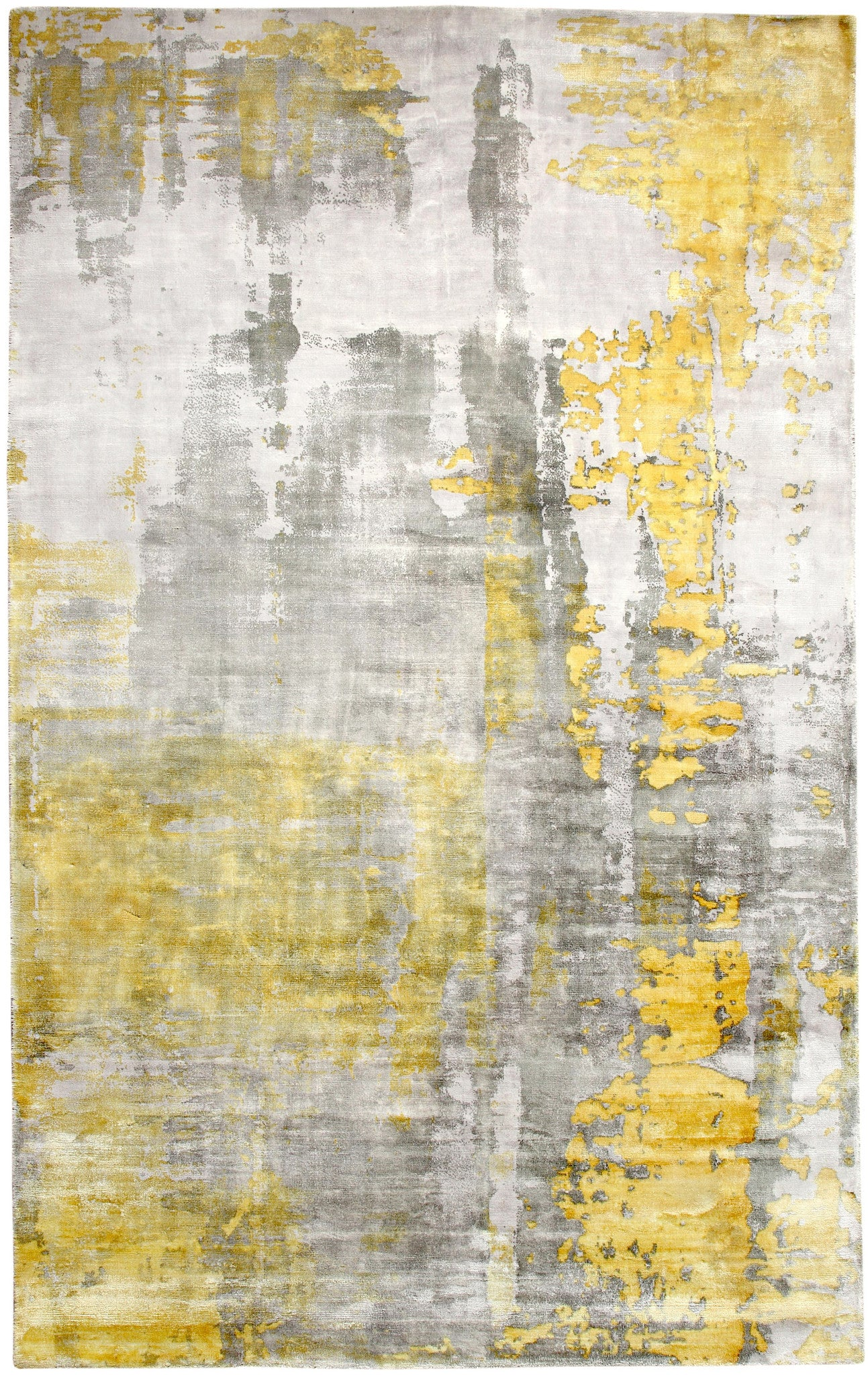 Dynamic Rugs Artisan Silver Gold Contemporary Rectangle