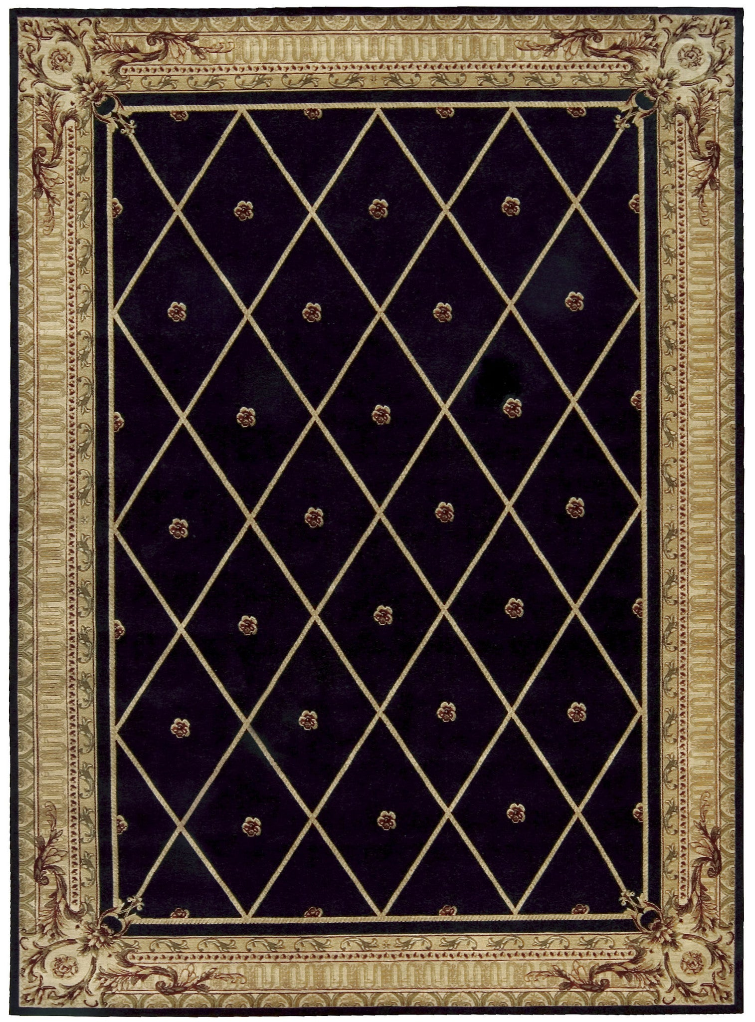 Nourison Ashton House Black Area Rug AS03 BLK