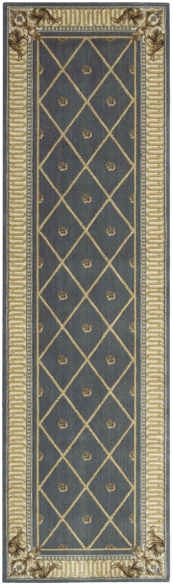 Nourison Ashton House Blue Area Rug AS03 BL
