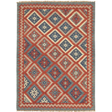Load image into Gallery viewer, Jaipur Rugs Flat-Weave Tribal Pattern Red/Blue Wool Area Rug