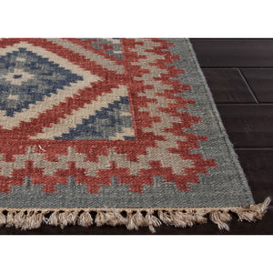 Jaipur Rugs FlatWeave Tribal Pattern Red/Blue Wool Area Rug AT01 (Rectangle)