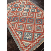 Load image into Gallery viewer, Jaipur Rugs FlatWeave Tribal Pattern Red/Blue Wool Area Rug AT01 (Rectangle)