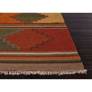 Jaipur Rugs FlatWeave Tribal Pattern Red/Multi Wool Area Rug AT04 (Rectangle)