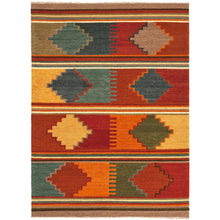 Load image into Gallery viewer, Jaipur Rugs Flat-Weave Tribal Pattern Red/Multi Wool Area Rug