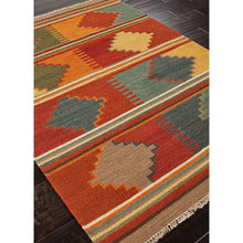 Load image into Gallery viewer, Jaipur Rugs FlatWeave Tribal Pattern Red/Multi Wool Area Rug AT04 (Rectangle)