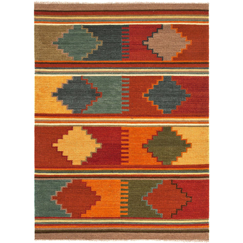 Jaipur Rugs Flat-Weave Tribal Pattern Red/Multi Wool Area Rug