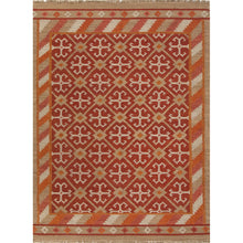 Load image into Gallery viewer, Jaipur Rugs Flat-Weave Tribal Pattern Red/Taupe Wool Area Rug