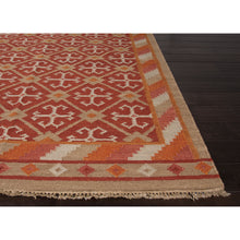 Load image into Gallery viewer, Jaipur Rugs FlatWeave Tribal Pattern Red/Taupe Wool Area Rug AT08 (Rectangle)