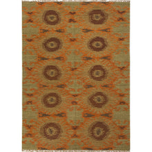 Load image into Gallery viewer, Jaipur Rugs Flat-Weave Tribal Pattern Orange/Green Wool Area Rug