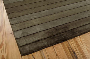 Nourison Aura Chocolate Area Rug AUR01 CHO (Rectangle)
