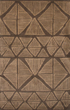 Load image into Gallery viewer, Jaipur Rugs Modern Tribal Pattern Brown Wool Area Rug