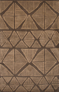 Jaipur Rugs Modern Tribal Pattern Brown Wool Area Rug