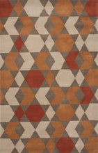 Load image into Gallery viewer, Jaipur Rugs Modern Geometric Pattern Orange/Brown Wool Area Rug