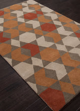 Load image into Gallery viewer, Jaipur Rugs Modern Geometric Pattern Orange/Brown Wool Area Rug AZT04 (Rectangle)