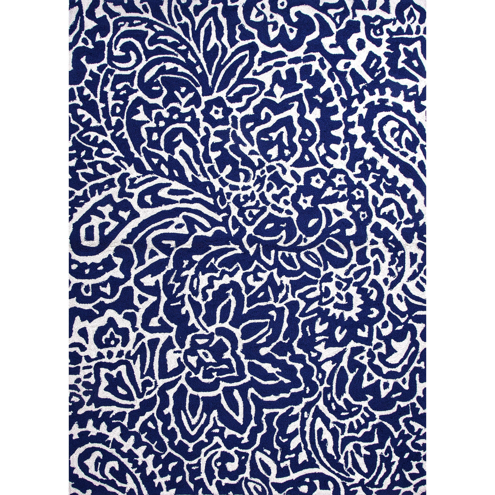 Jaipur Rugs Indooroutdoor Abstract Pattern Blue Ivory