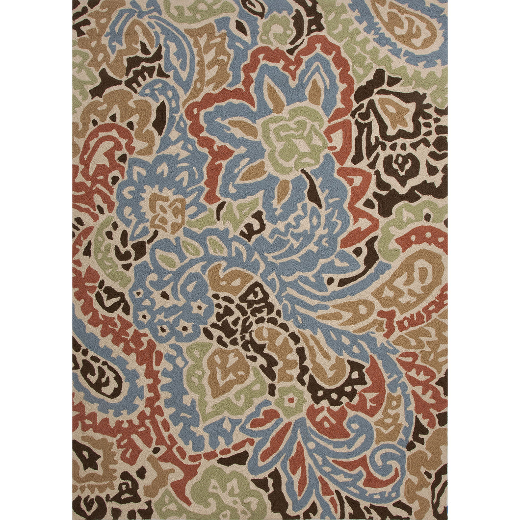 Jaipur Rugs Indoor-Outdoor Abstract Pattern Blue/Red Polypropylene Area Rug
