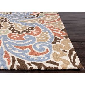 Jaipur Rugs IndoorOutdoor Abstract Pattern Blue/Red Polypropylene Area Rug BA04 (Rectangle)